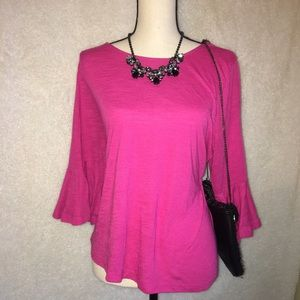 Lane Bryant flare sleeve blouse